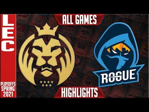 MAD vs RGE 歐洲王者之爭五場打滿 狂獅史詩神開見證新王加冕 2021 LEC春季季後賽Highlights