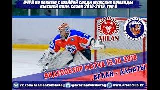 Видеообзор матча ХК'Арлан'  - ХК 'Алматы' игра 2
