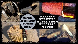 Gambar cover Trash To Treasure Melting Metal From Electric Motor - Making Copper Aluminium Bronze Ingots
