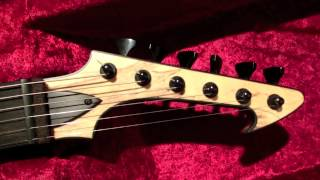 Skervesen Raptor 6 guitar with Bare Knuckle Aftermath, AWSOME (filmed with Casio Exilim)