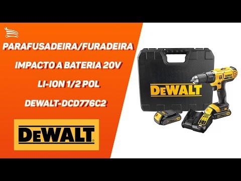 Parafusadeira/Furadeira Impacto a Bateria 20V Li-Ion 1/2 Pol.  com Carregador 2 Bat. e Maleta - Video