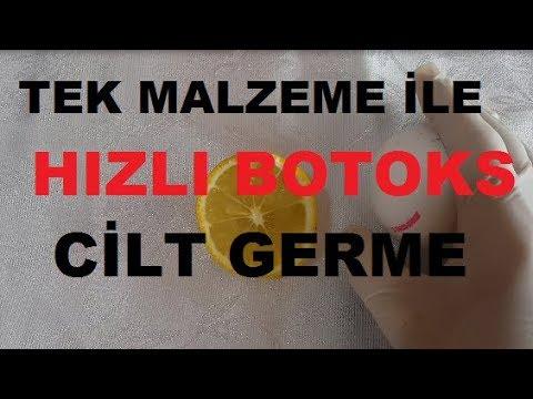 Evde Botoks - TEK  Malzeme İle -  Muhteşem CİLT GERME - EV Yapımı - Sıfır MASRAF - GÜZELLİK - BAKIM