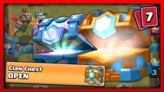 Clash Royale LVL 10 Clan Chest Opening! FREE Legendary Card!