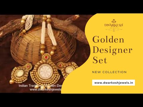 Latest Golden Designer Set – Indian Designer Jewellery