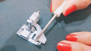 How To Stitch Saree Fall By Blind Hem Foot /Sewing Machine In Hindi
