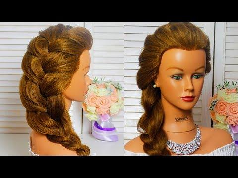 😘Легкие прически в школу за 2 минуты/Французская коса на бок/ Easy Hairstyles😘 French braid