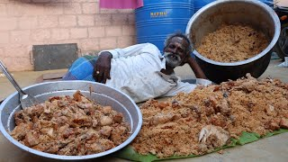 KING of BIRYANI !!! Prepared by my Daddy ARUMUGAM / 100 People / Village food factory