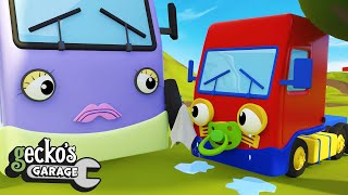 Baby Trucks Accident   Geckos Garage   Accidents Happen   Educational Videos For Toddlers