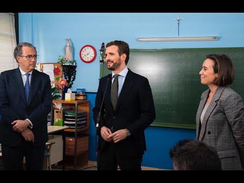 Pablo Casado pide a Sánchez que se deje de excusas y se siente para acordar un pacto educativo