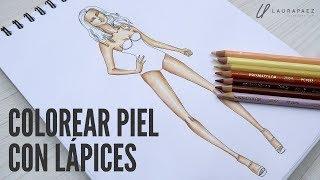 Cómo Colorear Piel En Figurines De Moda Con Lápices De Color