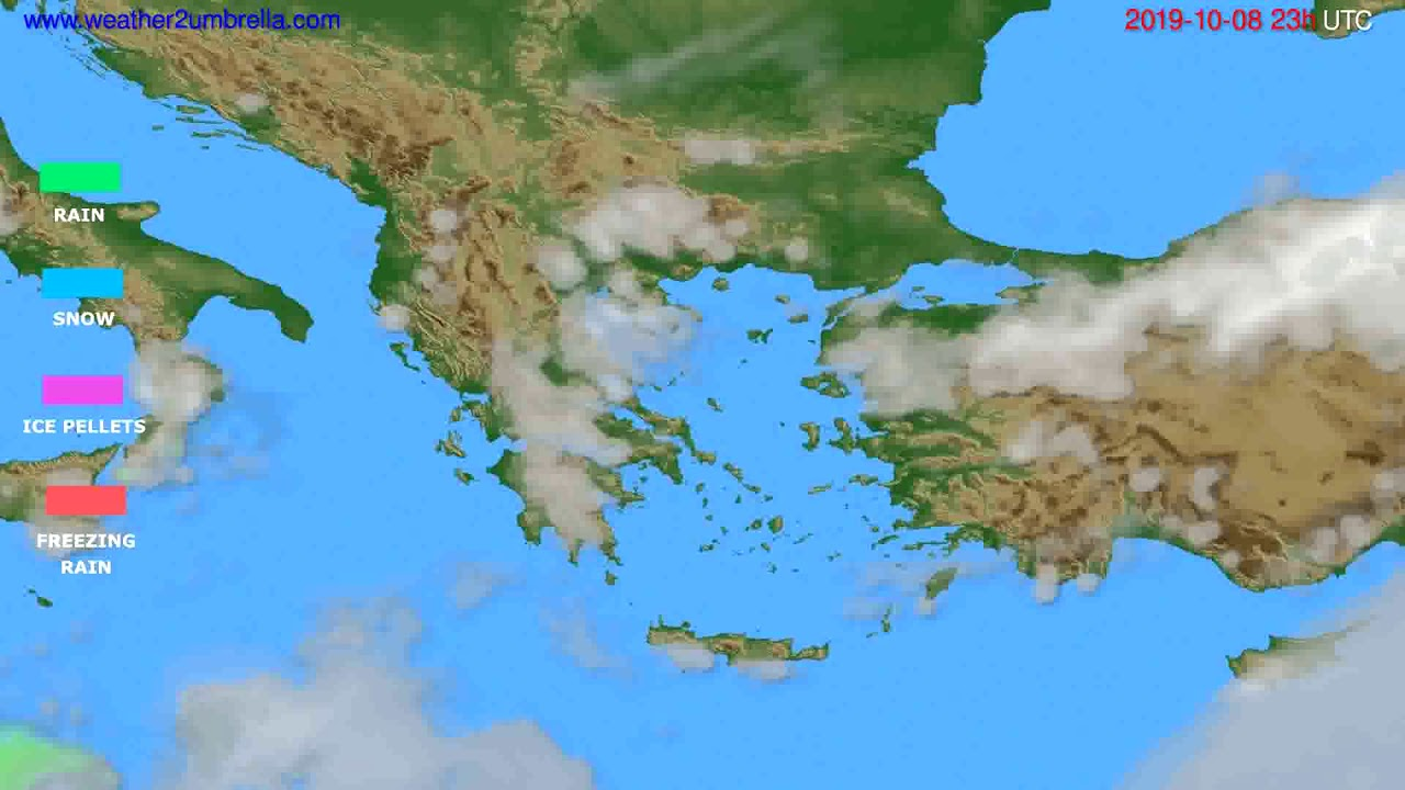 Precipitation forecast Greece // modelrun: 12h UTC 2019-10-05