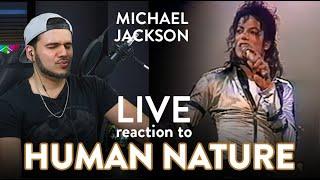 Michael Jackson reaction HUMAN NATURE LIVE Wembley | Dereck Reacts