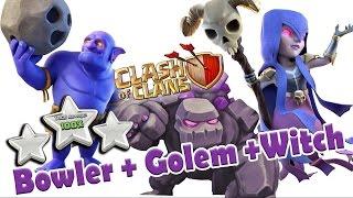 Моя атака боулерами и ведьмами на тх10 в игре Clash of Clans