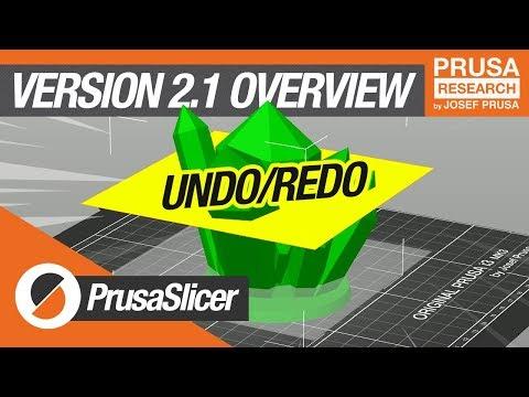 PrusaSlicer 2.1 Release! - Undo/redo, perspective camera and more!