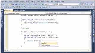 Display CSV data in DataGridView (C# code)