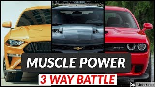 Ford Mustang GT vs Chevy Camaro SS vs Dodge Challenger | Exhaust Sound and Acceleration