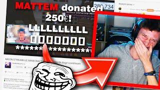 Trollím MOONA na streamu EXTREMNĚ dlouhými donaty [100 000 speciál]