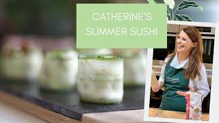 How to make Cucumber and Cream Cheese Sushi. Catherine Fulvio's quick easy Summer Sushi
