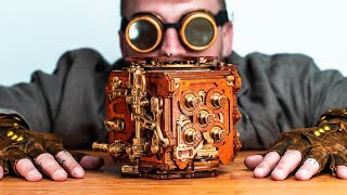 Solving The RAREST Puzzle Box in the World!! (Steampunk Puzzle)