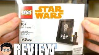LEGO Star Wars BLACK VIP CARD FRAME Review! Set 5005747!