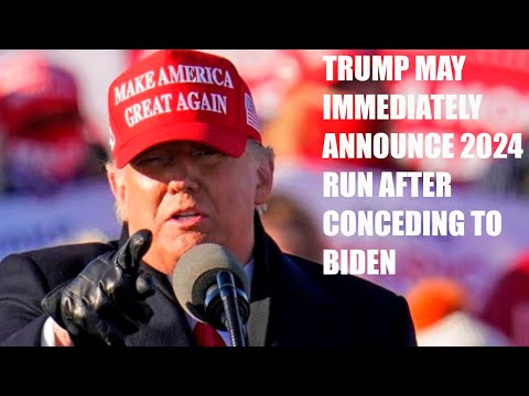 Trump Privately Said He Might Announce 2024 Run Immediately After Conceding To Joe Biden!