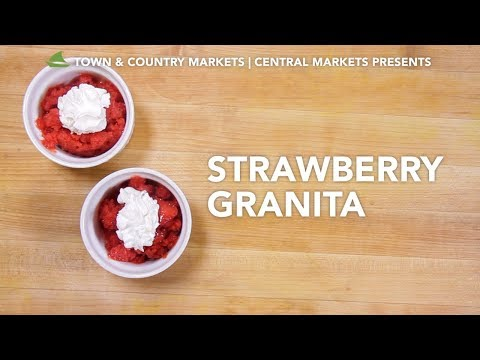This video is about how to make Strawberry Granita