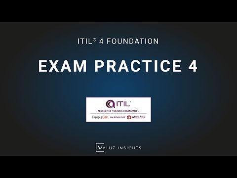 FREE ITIL 4 Foundation Exam Question Flash Cards 4 - YouTube