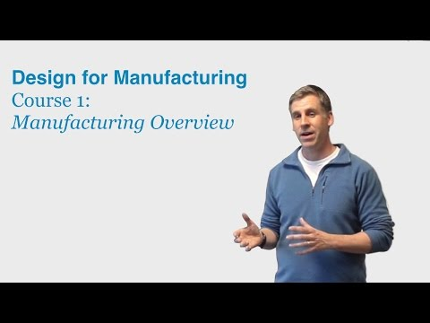 Design for Manufacturing Course 1: Manufacturing Overview ...