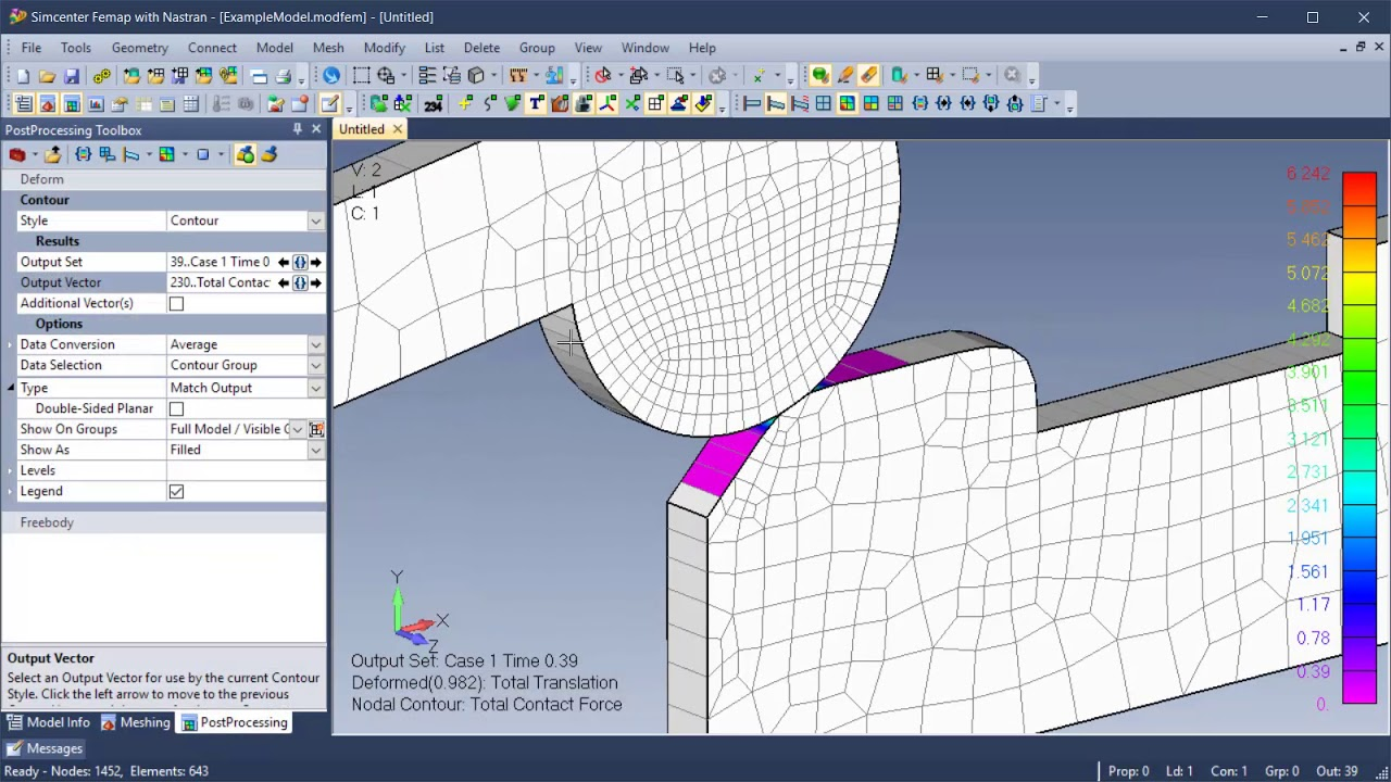 Femap 2019.1 postprocessing