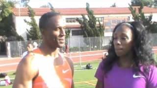 Willie Gault - Oxy Invitational - Interview de Lashinda Demus - 2010