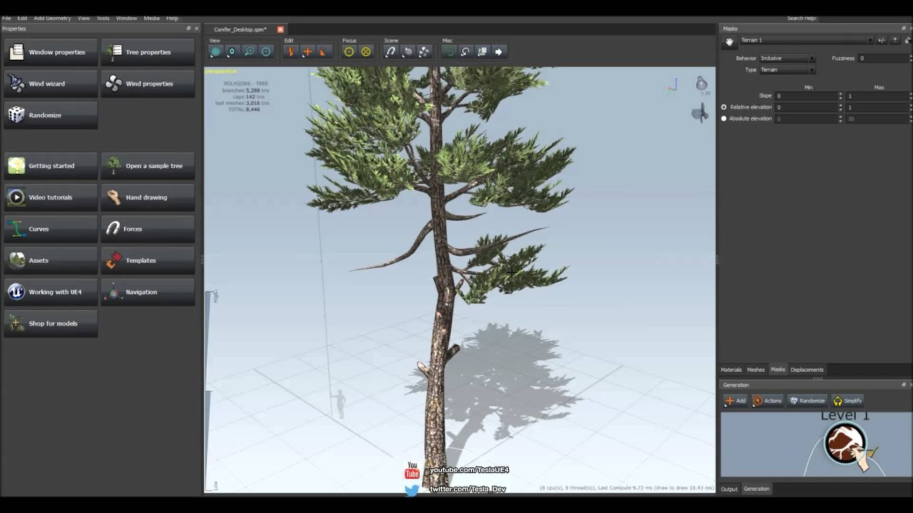 SpeedTree - Hand Drawing Tutorial (Unreal Engine 4)