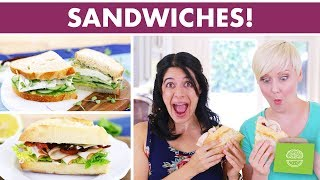 Cold Lunch Sandwich Ideas with The Domestic Geek! | 3 Healthy Sandwich Recipes