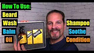 How To Use Beard Wash, Beard Balm, and Beard Oil. 4K