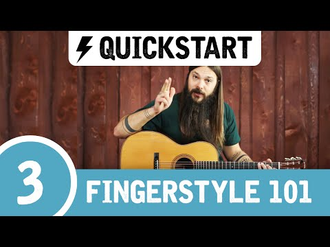 Tony's Beginner Fingerstyle Guitar Lesson ➌