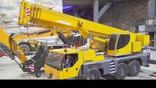 RC LIBHERR LRT 1100 ! AMAZING SELF BUILD CRANE LTM 1055! UNIQUE DIGGER LIFT