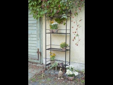 Regal für drinnen und draussen - Eisenmöbel für Pflanzen - Eisenregal | VARIA LIVING