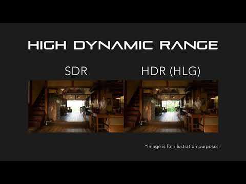 HDRと広色域による映像表現力