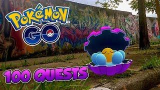 Clamperl  - (Pokémon) - FIZ 100 QUESTS DE CLAMPERL! MITEI? -  Pokémon Go | Capturando Shiny (Parte 44) 3ª Gen (Parte 35)