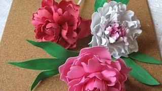 Бисероплетение и не только, Цветы из фоамирана мастер класс пион.Часть 2