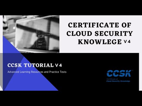 How to prepare for CCSK v4 Certificate of Cloud Security ... - YouTube