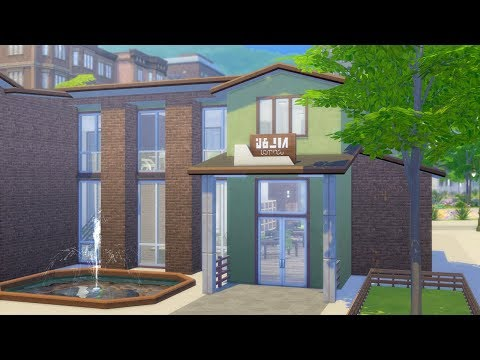 WATERFRONT LIBRARY // The Sims 4: Speed Build