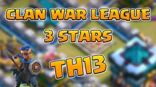 New TH13! 3 Star Clan War League Strategies | Gwenn Ha Du! | Clash of Clans