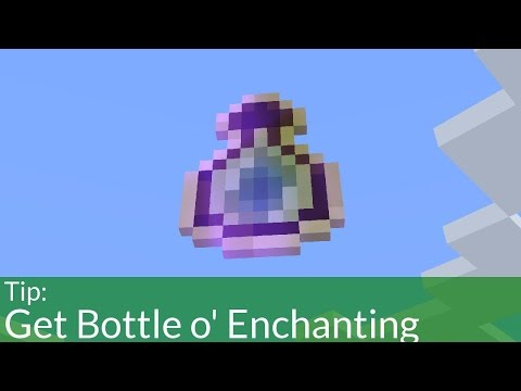 How To Get Bottle o' Enchanting In Survival Minecraft