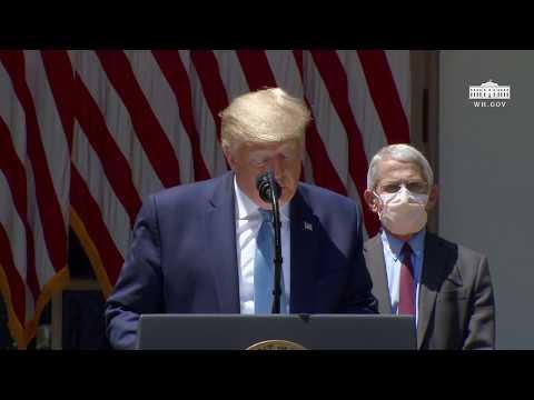 Trump zegt dat het coronavirusvaccin vrijwillig zal zijn: 'Niet iedereen zal het willen hebben'