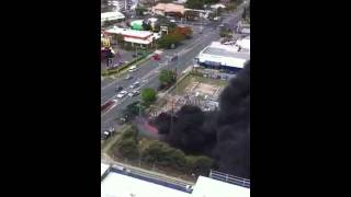 Explosion at Redcliffe substation video from my crane