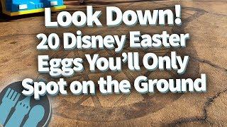 Look Down! 20 Disney Easter Eggs You