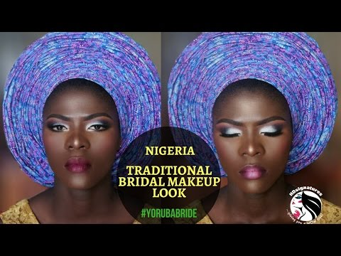 NIGERIAN BRIDAL MAKEUP TUTORIAL - #YORUBA BRIDE