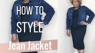 How To Style A Jean Jacket- Plus Size