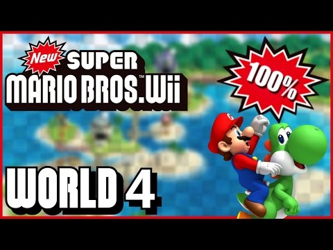 New Super Mario Bros Wii World 5 Jungle 100 Multiplayer