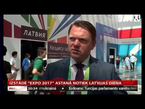 """VIDEO: Izstādē """"Expo 2017"""" Astanā notiek Latvijas diena"""